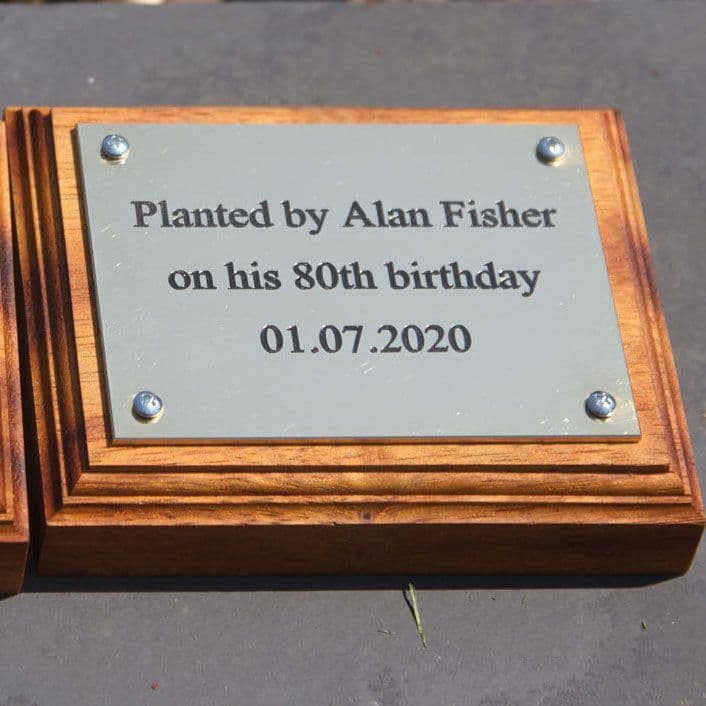 Small 1.5mm Thick Brass Plaque
