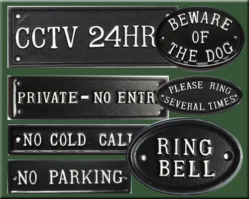 Standard Cast Metal Signs