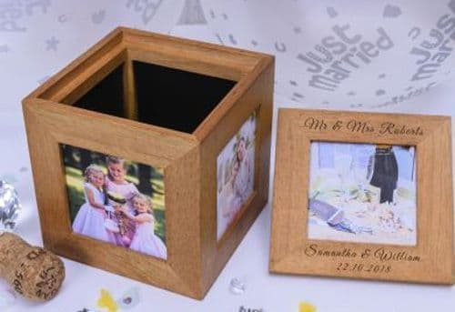Wedding Oak Photo Cube