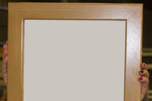 Whiteboard with Natural Wooden Frame