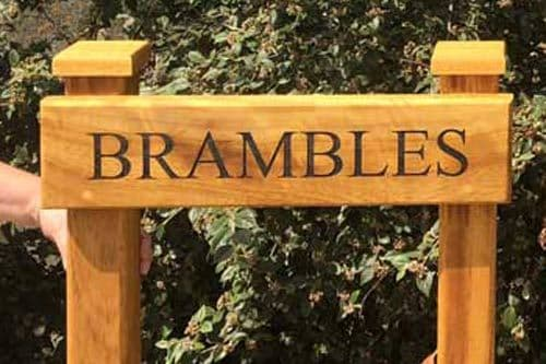 Wooden Entrance Signs with Posts (hidden fixings)