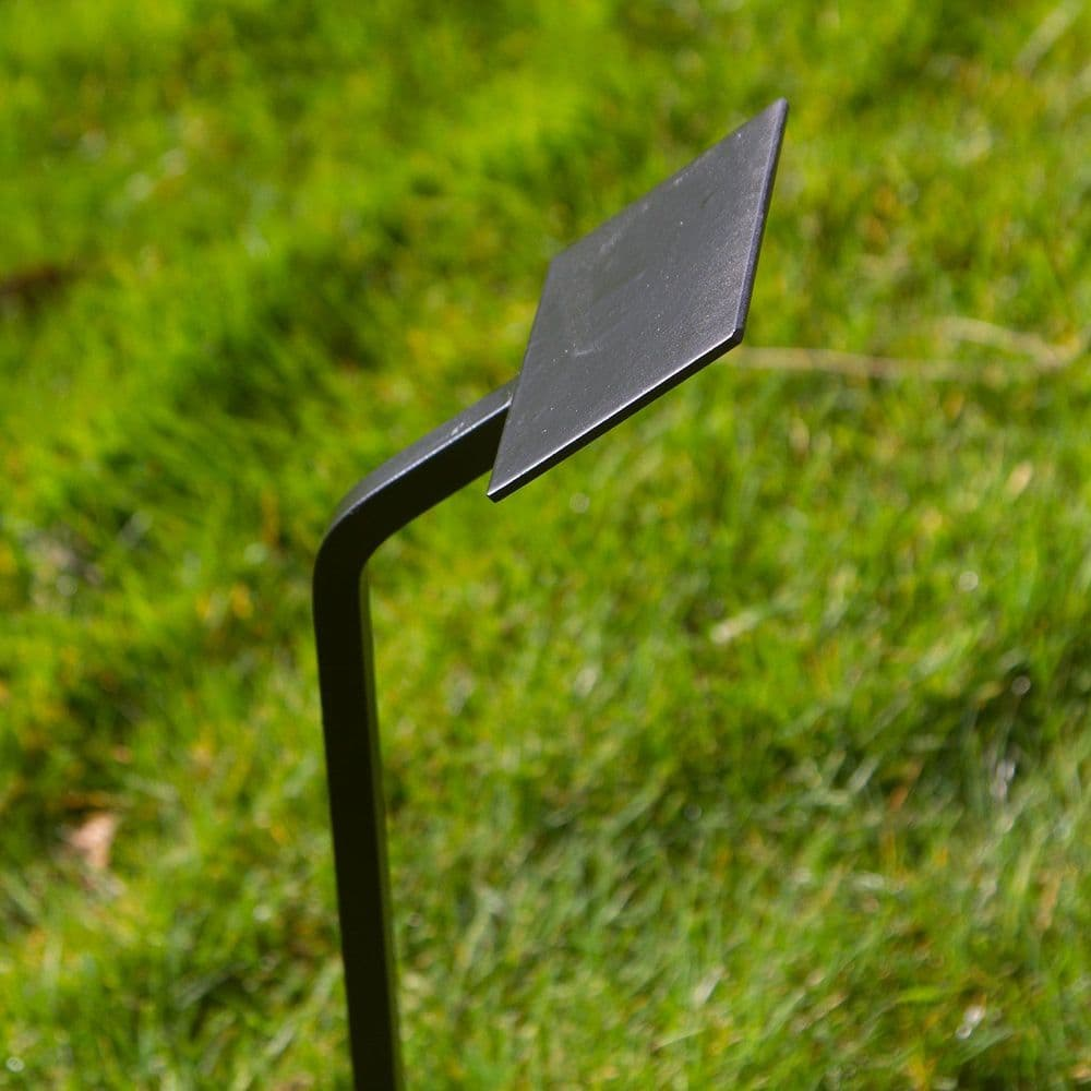 Wrought Iron Stake with Metal Plate