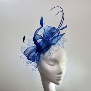 13967 Pretty Blu Francese Mother of the Bride/Groom Fascinator SD642/3