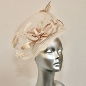 Almond Wedding Shimmering Fascinator 16932/SD680