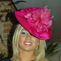Ascot Pink and Black Fascinator (special)