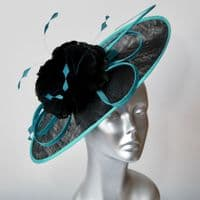 Black and Teal Mother of the Bride Hatinator 13101/SD769