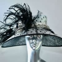 Black and White Spot Hat - SN212
