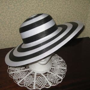 Black and White Sun Hat -SN560