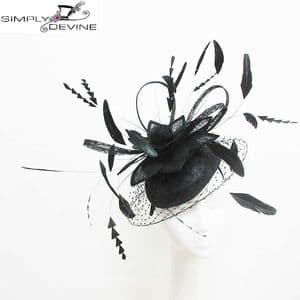Black veiled lily flower hatinator 14799 SD267