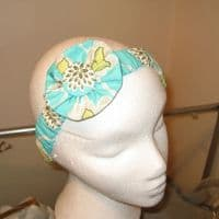 Blue & Green Floral Headband SN543
