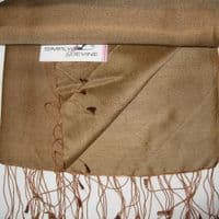 Chocolate Wedding Watersilk Pashmina KK109
