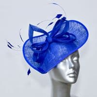 Geometric Mother of the Bride hat in cobalt blue 15582/SD273