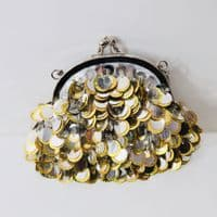 Gold and Silver Disc Handbag KH193