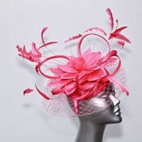 Hot pink lily veiled hatinator SD269 14799