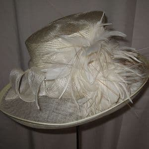 Mother of the Bride Cream Hat SN115