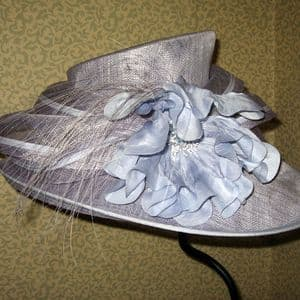 Mother of the Bride Pale Blue Wedding Hat Sn194