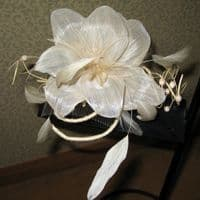 MyHat Light Ivory/Beige Wedding Fascinator (SN280)