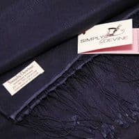 Navy Special Occasion Wedding Pashmina Navy