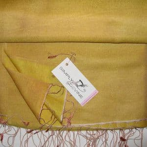 Orange Watersilk Pashmina by Simply Devine KK135