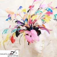 Our stunning signature feather Ascot hatinator 14782