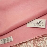 Peachy Pink Special Occasion Wedding Pashmina