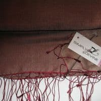 Plum Watersilk Pashmina  KK98