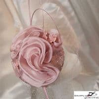 Rose Pink Veiled Pillbox for Ascot / Wedding Guest / MOB 1149