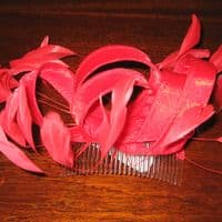 Shimmering Red Fascinator (Loop) (SN475)