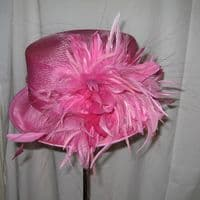 Simply Devine Windsor Pink Wedding Hat SN116