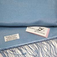 Soft Blue Special Occasion Wedding Pashmina