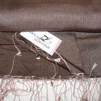 Watersilk Pashmina (Gunmetal & Pink) NN11