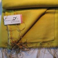 Watersilk Pashmina (Mustard Pot) P25