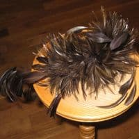 Winter Brown Feather Fascinator - SD71