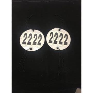 Bridle Competition Numbers  Twin pack