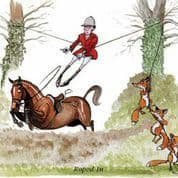 Bryn Parry 'Roped In ' Hunting Greeting Card