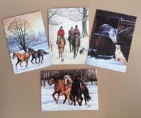 Caroline Cook Horse Seasonal  Card Pack of 8