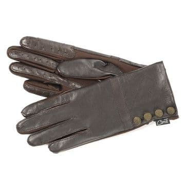 Country Quilted Leather Gloves