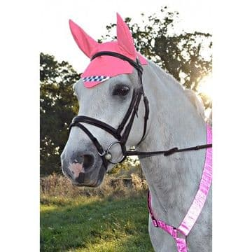 Equisafety Reflective Fly Veil or Ear Cover