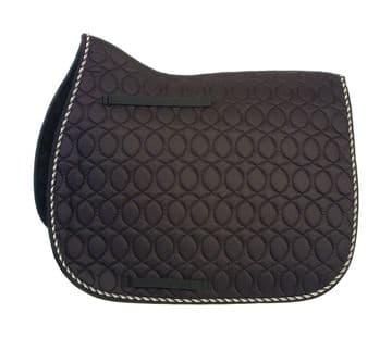 Hy Equestrian Deluxe Saddle Pad with Cord Binding - Pony
