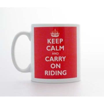 Keep Calm & Carry on Riding Mug & Coaster Gift Set