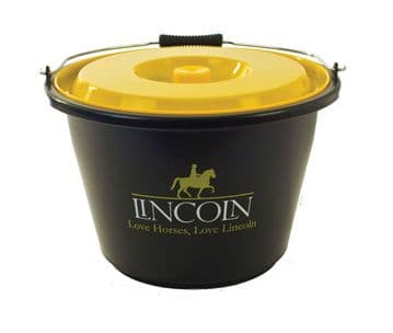 Lincoln Bucket with Lid - Black/Yellow Lid - 18 litre