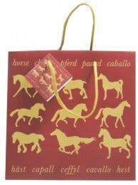 Maroon Horse Design Gift Bag