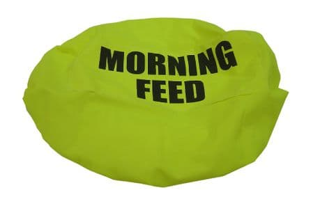 Mealtime Feed Bowl Bucket Cover - FLUORESCENT -  Morning and Evening