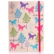 Milly Green A5 Ponies Design Notebook