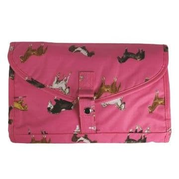 Milly Green Pink Foldable Washbag