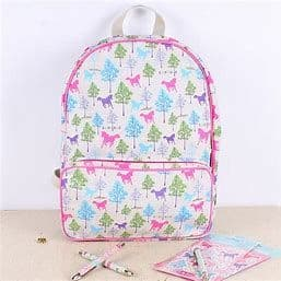 Milly Green Playful  Ponies Backpack