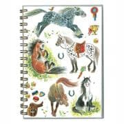 Padblock A5 Happy Horses Wire Bound Notebook