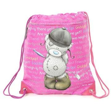 Tatty Teddy Horse Riding Drawstring Kit Bag