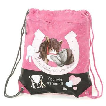 Tatty Teddy Horse Shoe Drawstring Kit Bag