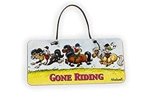 Thelwell Gone Riding Hanging Door Sign